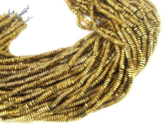 Hematite Beads-... Gold Hematite Beads