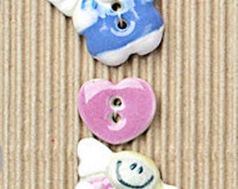 Hearts and Angels Buttons