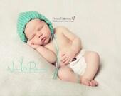 Knitting PATTERN - Knit Baby Bonnet Pattern - Knit Pixie Hat Pattern - PDF 270 - Includes 5 Sizes Newborn to Adult - Photo Prop Pattern