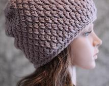 Crochet PATTERN - Crochet Slouchy Hat Pattern - Cable Crochet Hat Pattern - Baby, Toddler, Child, Kids, Adult Sizes -  PDF 237