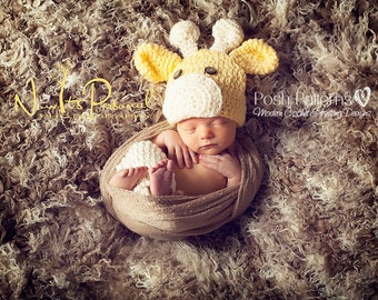 Crochet PATTERN - Crochet Patterns hat - Crochet Giraffe Hat Pattern - Includes Baby, Toddler, Kids, Adult Sizes - Photo Prop - PDF 175