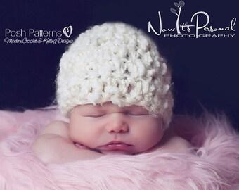 Crochet PATTERN - Crochet Hat Pattern - Crochet Pattern Hat - Crochet Patterns for Children - Includes 7 Sizes Newborn To Adult - PDF 179