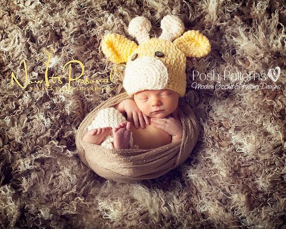 Crochet PATTERN - Crochet Giraffe Hat Pattern - Includes Baby, Toddler, Child, Kids, Adult Sizes - Photo Prop Pattern - PDF 175