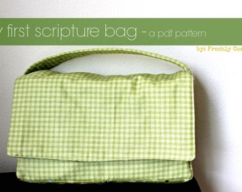 Scripture case -- My First Scripture Bag PDF Sewing pattern-- Instant Download