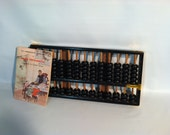 Chinese Abacus Vintage Wood Brass Instruction Manual Arithmetic Bead Counting Tool Math Addition Aid Subtraction
