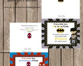 Super hero Invitations,pop up super hero invitations,birthday invitations, super hero birthday,super hero, batman invite,superman invitation