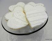 Wedding Heart Cookies - 2 dozen sugar and lace hearts (#2358)