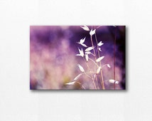 nature photography canvas print floral canvas art 2x12 24x36 fine art photography abstract canvas print grass gallery wrap large canvas plum