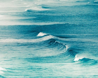 nautical decor waves photography ocean 8x10 24x36 fine art photography beach coastal prints teal waves water photography large scale aqua