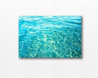 coastal canvas print abstract beach canvas photography print ocean canvas wrap 12x18 24x36 fine art photography nautical decor blue teal