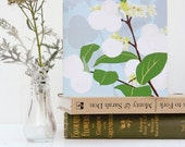 Winter Snowberries card - Gardeners, blank, winter card or notelet
