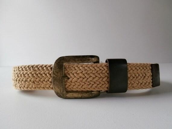 wide woven belt hippie boho 1960s 1970s braided