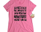 Retro t shirt 80s music tee shirt boombox mens women tshirt ladies tshirt grey cassette player shirt birthday gift for girls music lovers