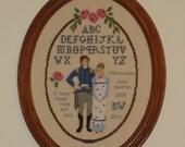 "Jane Austen's ""Persuasion"" Sampler/""None but You""/Capt. Wentworth and Anne Elliott"