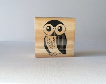 Owl Wooden Mounted Rubber Stamping Block DIY cards, scrapbooking, tags, Greeting Cards, and Scrapbooking