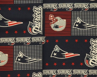 NFL New England Patriots 100%Cotton V2 Fabric by the Yard