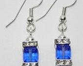 "Swarovski Crystal Cube Birthstone Earrings ""Special Order"""