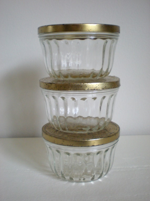 3 Kerr Glass Jars Jelly Jar With Rusty Old Lids Kitchen