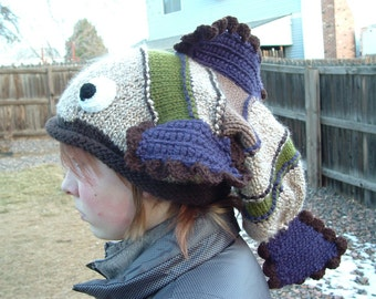 Adorable Soft Warm Fish Hat