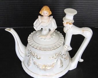 Vintage Porcelain Tea Pot from 1940's