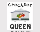 Crockpot Queen Machine Embroidery Design