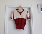 Sonia Rykiel bow red and white stripe top