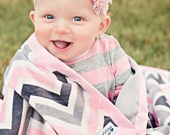 Child Blanket, Minky Blanket, Chevron Blanket, Satin Blanket, Satin Minky, Chevron Minky, Child Minky, Soft Blanket, Valentines, Birthday