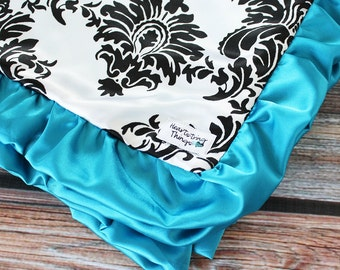 Add Satin Ruffle Binding to a Blanket