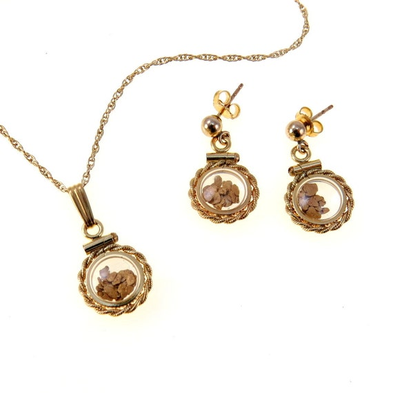 Gold metal bubble set vintage