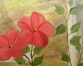 Handmade Florida Flowers Greeting Card. Original Art