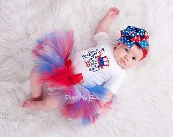 My First Fourth Of July Tutu Outfit-4th of July Pageant Outfit-4th of July Tutu Outfit *Bow NOT Included*
