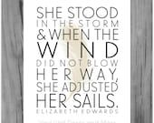 She Stood in the Storm- Inspirational Print 8 by 10
