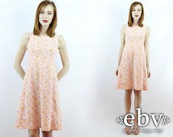 Vintage Sundress Summer Dress Paisley Dress Pink Dress Vintage 70s Pink Paisley Sun Dress XS S