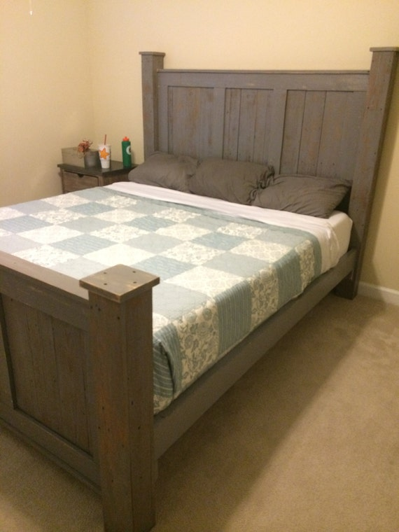 Reclaimed Wood Furniture/solid Wood Bed/king By