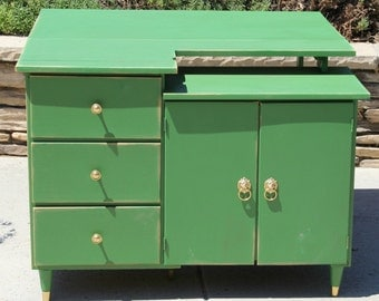 Bar Cart / Table Vintage Storage Painted and Distressed By Foo Foo La La