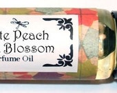 WHITE PEACH & Silk Blossoms - Roll on Premium Perfume Oil - 1/3 oz - Peony / Lily / Sandalwood