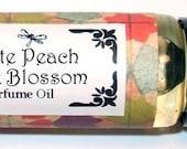 WHITE PEACH & Silk Blossoms - Roll on Premium Perfume Oil - 1/3 oz - Peony / Lily / Sandalwood