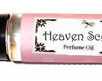 HEAVEN SCENT - Roll on Premium Perfume Oil - 2 sizes to choose from - 1/3 oz or 1/6 oz - White Musk Soft Florals