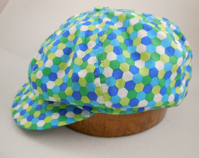 Hand crafted, custom made, lightweight cotton 8 panel baggy cap, long or short visor, adjustable or fitted with cotton or leather sweatband.