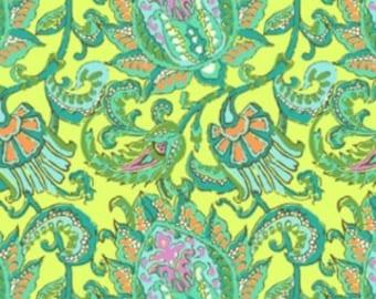 Amy Butler, Soul Blossom, Dancing Paisley in Lemon, 1 Fat Quarter