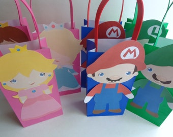 SALE Mario Brothers Party Favor Bags Full body