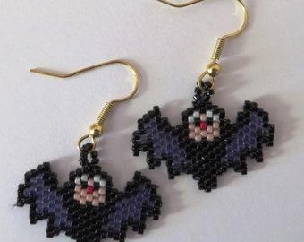 Small pair of bat earrings