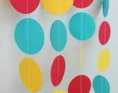 Carnival Birthday - Paper Garland Decoration -  children's birthdays -10 Feet Long