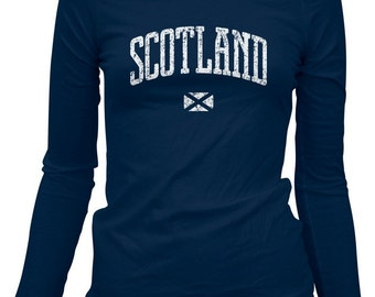 Women's Scotland LS T-shirt - Scottish Long Sleeve Tee - S M L XL 2x - Ladies Scotland Tee - 3 Colors