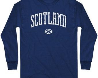 LS Scotland Tee - Long Sleeve T-shirt - Men and Kids - S M L XL 2x 3x 4x - Scottish - 4 Colors