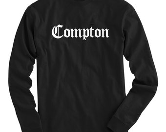 LS Compton T-shirt - Gothic LA Long Sleeve Tee - Men and Kids - S M L XL 2x 3x 4x - Los Angeles - Compton T-shirt - 4 Colors