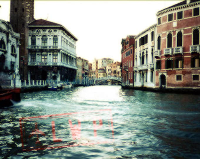 On the Grand Canal, Venice Italy, International Travel, Architecture, Cityscape - 5x7 8x10 11x14 16x20 Fine Art Photograph