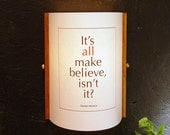 Wall sconce. Words of wisdom. Message lamp. Inspirational quotes. Literary lighting. DIY lamp shade. 214.