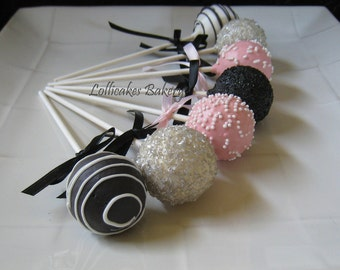Cake Pops: Bridal Shower Cake Pops Made to Order with High Quality Ingredients, 1 dozen cake pops