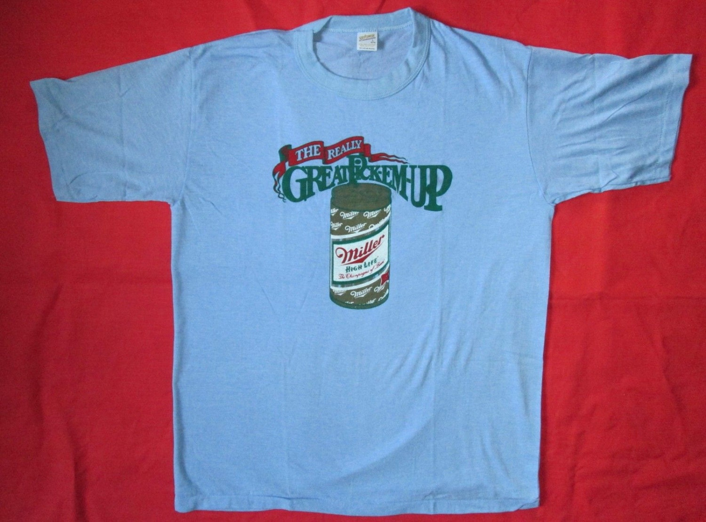 Miller High Life Beer Vintage Tee Shirt Lrg